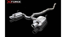 XFORCE Turbo Back Exhaust Matte Stainless Steel fits Subaru Forester XT 2009-12