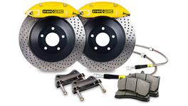StopTech Big Brake Kit - Fits VW GTI Front w/Yellow ST-41 Calipers 328x25mm Drilled Rotors 06-12
