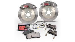 StopTech Big Brake Kit - Fits Audi A3 Front ST-40 328x28mm Trophy Anodized Zinc Slotted 06-10