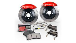 StopTech Big Brake Kit - Fits Impreza WRX Front ST40 328x28 Slotted Rotors Red Calipers 08 On