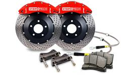 StopTech Big Brake Kit - Fits WRX STi Front ST60 355x32 Drilled Rotors Red Calipers 08-09