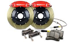 StopTech Big Brake Kit - Fits Audi S3 8V/VW Golf R Mk7 Front w/Red ST-40 Zinc Slotted 355x32 2pc 270760