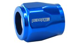 "Aeroflow AF150-05 Hex Hose Finisher 14.3mm ID Blue 9/16"" ID Clamp"