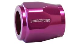 "Aeroflow AF150-07PUR Hex Hose Finisher 16.5mm ID Purple 21/32"" ID Clamp"