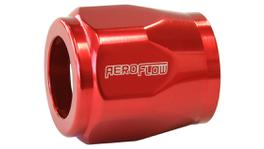 "Aeroflow AF150-07R Hex Hose Finisher 16.5mm ID Red 21/32"" ID Clamp"