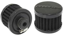 "Aeroflow AF2271-1320 3/8"" Univ Clamp On Filter 2"" O.D,1-1/2"" H, Black Top 278005"