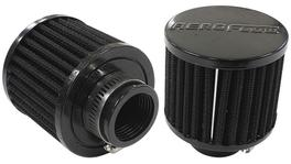 "Aeroflow AF2271-1390 1-1/4"" Univ Clamp On Filter 3"" O.D,2-1/2"" H,Black Top 278010"