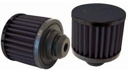 "Aeroflow AF2271-1490 1-1/4"" Push In Breather Filter 3"" O.D,2-1/2"" H,Black Top 278015"
