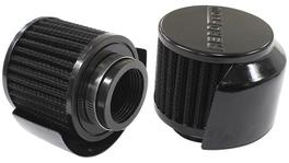 "Aeroflow AF2271-1514 1-1/2"" Breather Filter W/ Shield3"" O.D,2-1/2"" H, Black Top 278017"