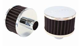 "Aeroflow AF2871-1170 1"" Push In Breather Filter 3"" OD,2"" High,Chrome Top 278127"