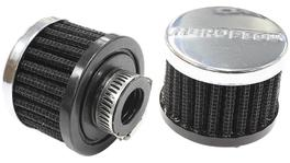 "Aeroflow AF2871-1340 5/8"" Univ Clamp On Filter 2"" OD,1-1/2"" High,Chrome Top 278130"