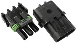 Aeroflow Weatherpack 3 Pin Connector AF49-8503