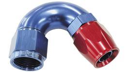 Aeroflow AF575-06D 150 Deg -6AN Full Flow Teflon Hose End Blue 1 Piece FullFlow AF575-06D