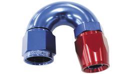 Aeroflow AF576-06D 180 Deg -6AN Full Flow Teflon Hose End Blue 1 Piece FullFlow AF576-06D