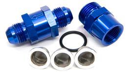 Aeroflow AF608-04 -4an Inline Fuel & Oil Filter Blue 3x Filter 30,80,150 Micron