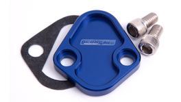 Aeroflow AF64-2027 Billet Fuel Pump Block Off Blue Fits Chrysler BBF SBF BBC