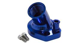 Aeroflow AF64-2033 Billet Thermostat Housing Blue Suits 45Deg Windsor
