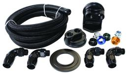 Aeroflow AF64-2042 Billet Oil Filter Remote Mount Kit Single Filter Kit -10 Hose
