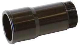 """Aeroflow AF64-2080BLK 1.5"""" Radiator Hose Adapter Black Short 2.75"""" Length CVR"""