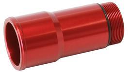 """Aeroflow AF64-2082R 1.75"""" Radiator Hose Adapter Red Short 2.75"""" Length CVR"""