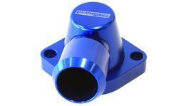 Aeroflow AF64-2115 Billet Thermostat Housing Blue Swivel Fits LS3 Only