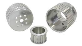 Aeroflow AF64-3001 Gilmer Drive Kit - Silver Fits Chev V8 With Long W/Pump
