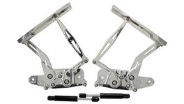 Aeroflow AF64-4129 Billet Bonnet Hinge Kit Polished Fits Holden HK-HT-HG