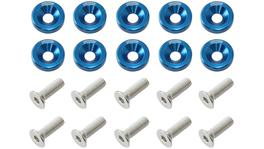 Aeroflow Billet Dress Up / Fender Bolt Blue (10 Pack) AF64-4365