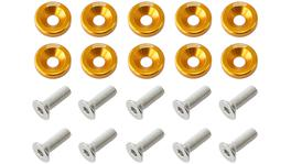 Aeroflow Billet Dress Up / Fender Bolt Gold (10 Pack) AF64-4365G