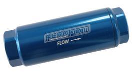 "Aeroflow AF66-2042-10 Pro Filter 10 Micron Blue Female -8 orb 1.25""x3.5"""
