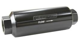 "Aeroflow AF66-2043BLK-10 Pro Filter 10 Micron Black Female -12 orb 2.4""x7"""