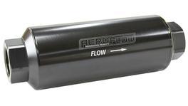 "Aeroflow AF66-2043BLK-40 Pro Filter 40 Micron Black Female -12 orb 2.4""x7"""