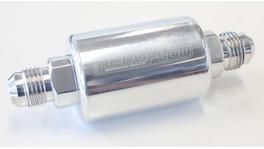 "Aeroflow AF66-2052P Filter 40 Micron Polished-6an 1.25""x3"""
