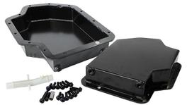 "Aeroflow AF72-3001BLK 3"" Deep Fabricated Transmission Pan Inc Filter Extension Fits TH400"