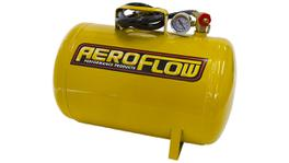 Aeroflow AF77-3010 5 Gal Portable Air Tank Yellowwith Tank Valve 125 Max PSI