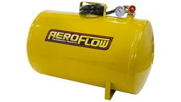 Aeroflow AF77-3011 10 Gal Portable Air Tank Yellowith Tank Valve 125 Max PSI