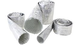 "Aeroflow AF91-5002 Aluminised Sleeve 1-1/8-1-1/2"" Silver Finish 1M / 3Ft"