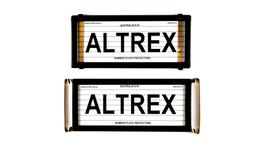 Altrex Number Plate Cover 4 Figure Black With Lines Slimline