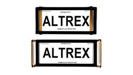 Altrex Number Plate Cover 4 Figure Black Without Lines Slimline