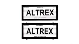 Altrex Number Plate Cover 5 Figure Black With Lines