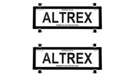 Altrex Number Plate Cover 5 Figure Black Without Lines Dual Slimline