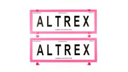 Altrex Number Plate Cover 6 Figure Pink Frame Without Lines