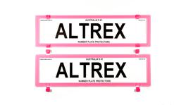 Altrex Number Plate Cover 6 Figure Pink Without Lines Dual Slimline
