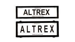 Altrex Number Plate Cover HSV & FPV Black Without Lines Slimline