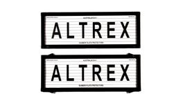Altrex Number Plate Cover 6 Figure Black With Lines