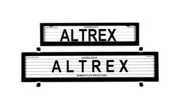 Altrex Number Plate Cover 6 Figure Black With Lines European Premium Combination