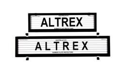 Altrex Number Plate Cover 6 Figure Black With Lines European Slimline Combination