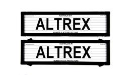 Altrex Number Plate Cover 6 Figure Black With Lines Premium Dual Back NSW