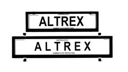 Altrex Number Plate Cover 6 Figure Black Without Lines European Slimline Combination