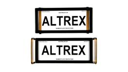 Altrex Number Plate Cover Historic Black Without Lines